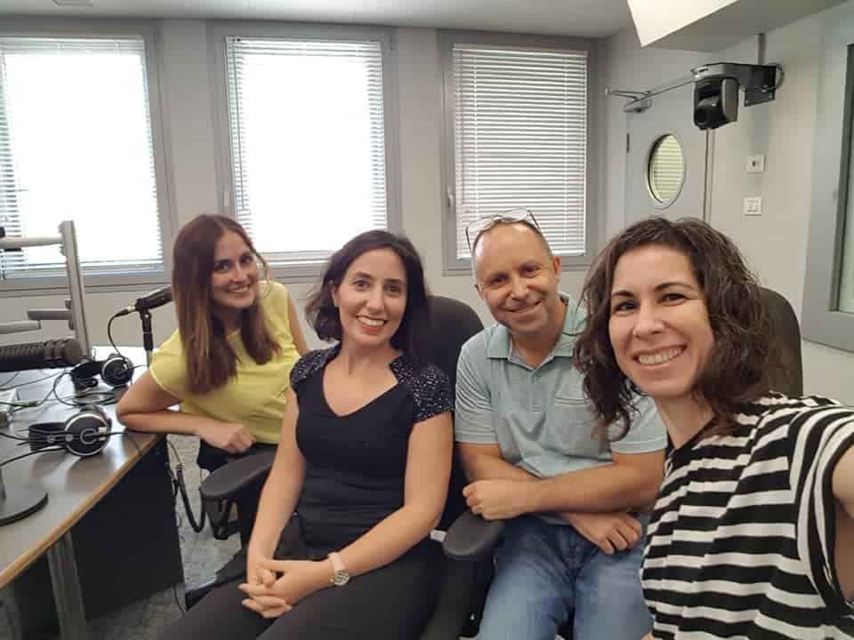 שירן ישראל, עדי גולומביק זלוף, חנן הורביץ וענת מאור בראיון רדיו בכאן