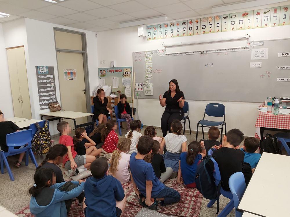 הרצאה לתלמידים על גמגום
