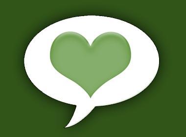 לב בבועת דיבור - סמל הסדנא לדבר מהלב